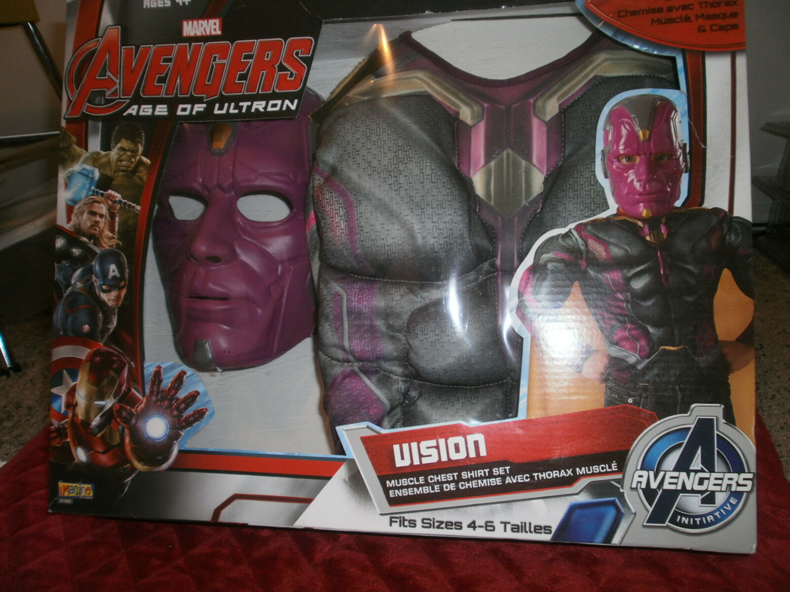 Marvel Avengers Age of Ultron Vision Costume Muscle Chest Shirt Set ...