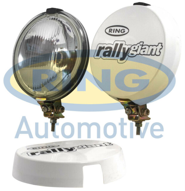"""Ring Rally Giant 12v 7"""" inch 4x4 Round Driving Halogen Spot Lamps Lights+Covers"""
