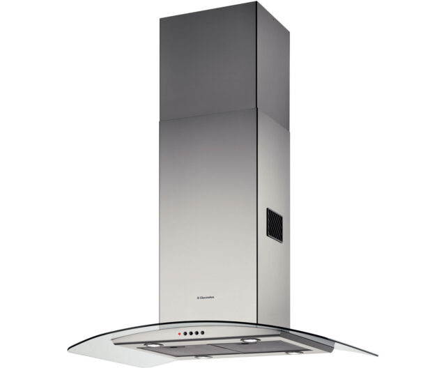 Electrolux EFA90245X 90cm Curved Glass Island Hood Stainless Steel HA1114