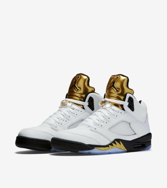 Nike Air Jordan 5 Retro Olympic Sneaker '11 Men 12 USA Rio Athletic Basketball.