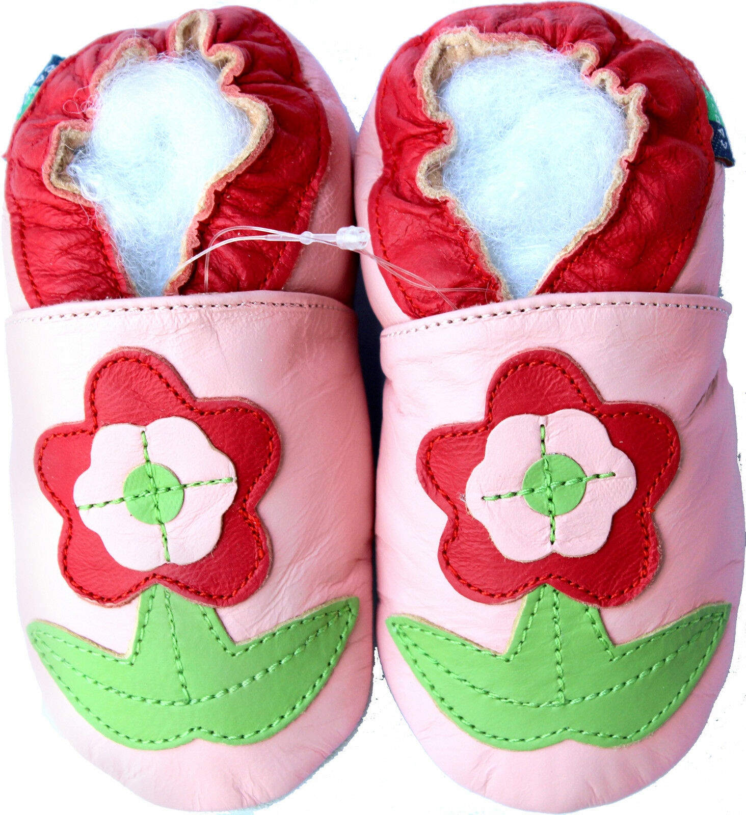 Soft Sole Leather Baby Shoes Flower Pink 18 24m S