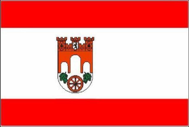 Fahne Flagge Berlin Pankow 20 x 30 cm Bootsflagge Premiumqualität