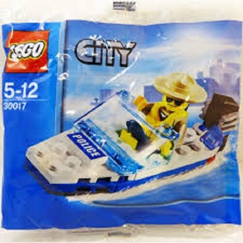 Lego city polybag 30017  speed boat with cop mini figure
