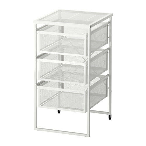 IKEA LENNART 3 Drawers Storage Unit + Castors,Home Office Shop Use,Hold A4