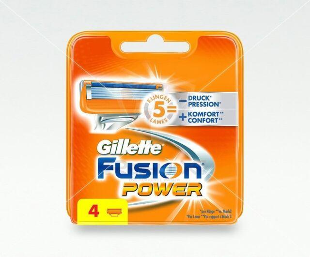 Gillette Fusion Power Rasierklingen 4 Stück Ersatzklingen Original NEU & OVP