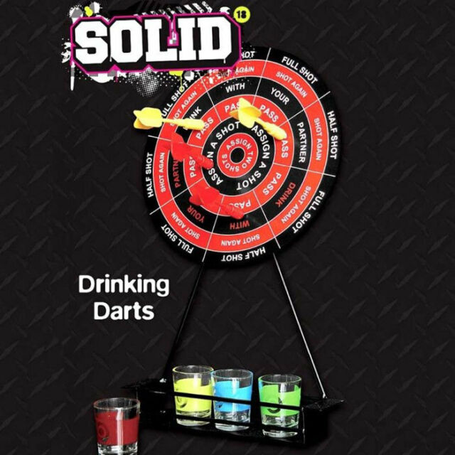 Solid Drinking Darts Party Game Stag Do Magnetic Dart Board Darts & Shot Glasses