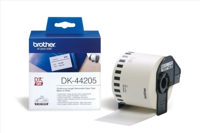 Brother DK Labels DK-44205 (62mm x 30.48m) Continuous Removable Paper Tape