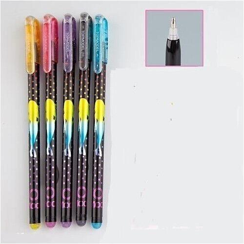 TOPModel Glitter Gel Pens Set C Set of 5 Different Colour Glitter Gel Pens New