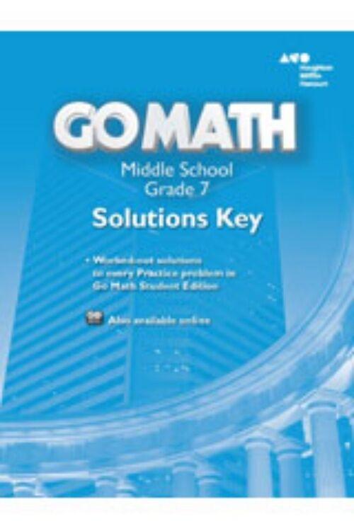Grade 7 Go Math Solutions Key Answer Manual Middle School 7th   eBay