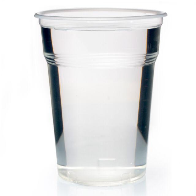 Ausschankbecher Bierbecher 500 ml Plastikbecher 0,5 Einwegbecher 100 PP Becher