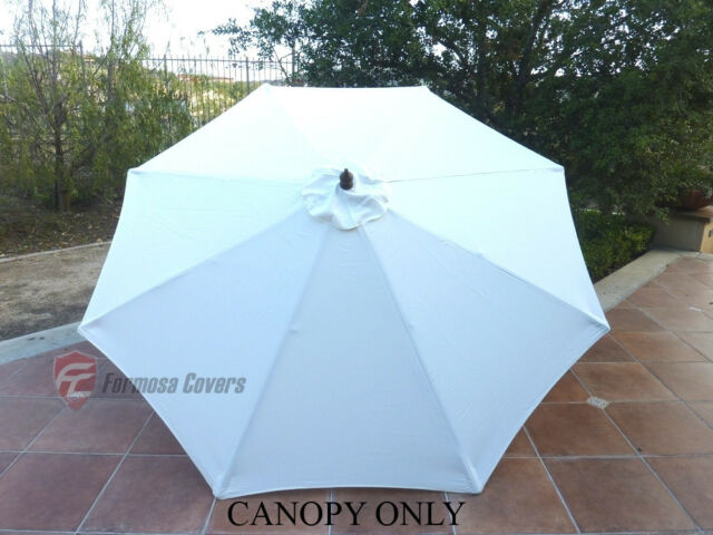 Formosa Covers 9ft Umbrella Replacement Canopy 8 Ribs In Off White