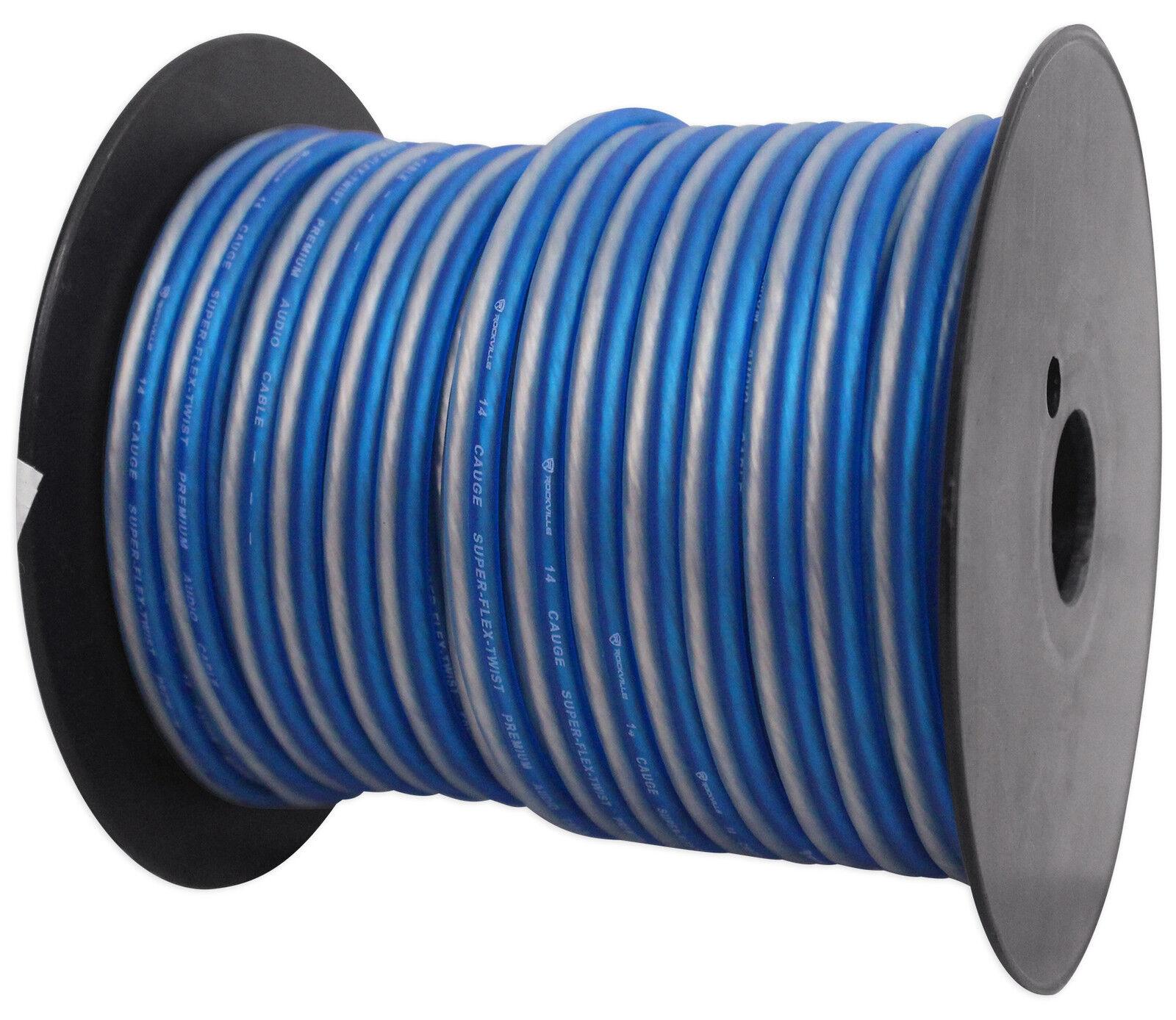 Rockville R14GBLS100 14 Gauge 100\' Spool Car Audio Speaker Wire | eBay