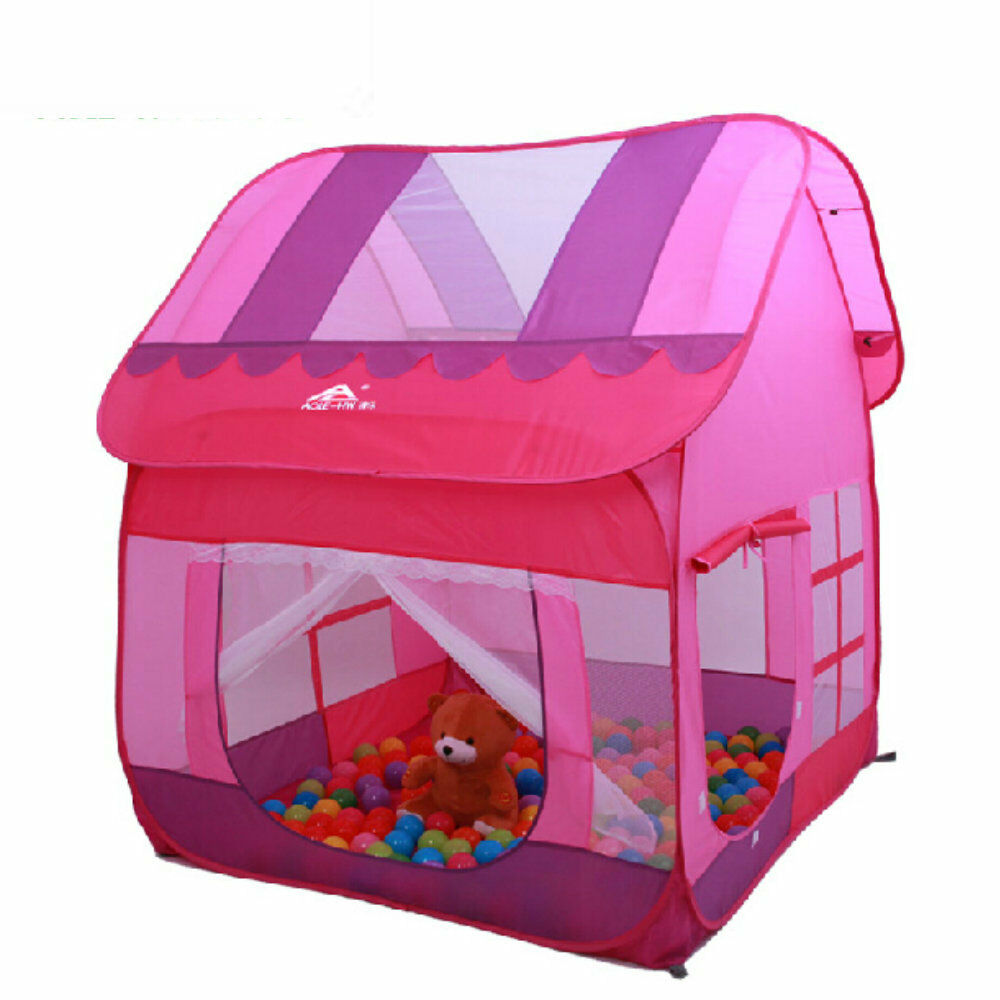 Picture 1 of 5 ...  sc 1 st  eBay & Child Girls Princess Big Play Tent Kids Playhouse Playhut Ball Pit ...