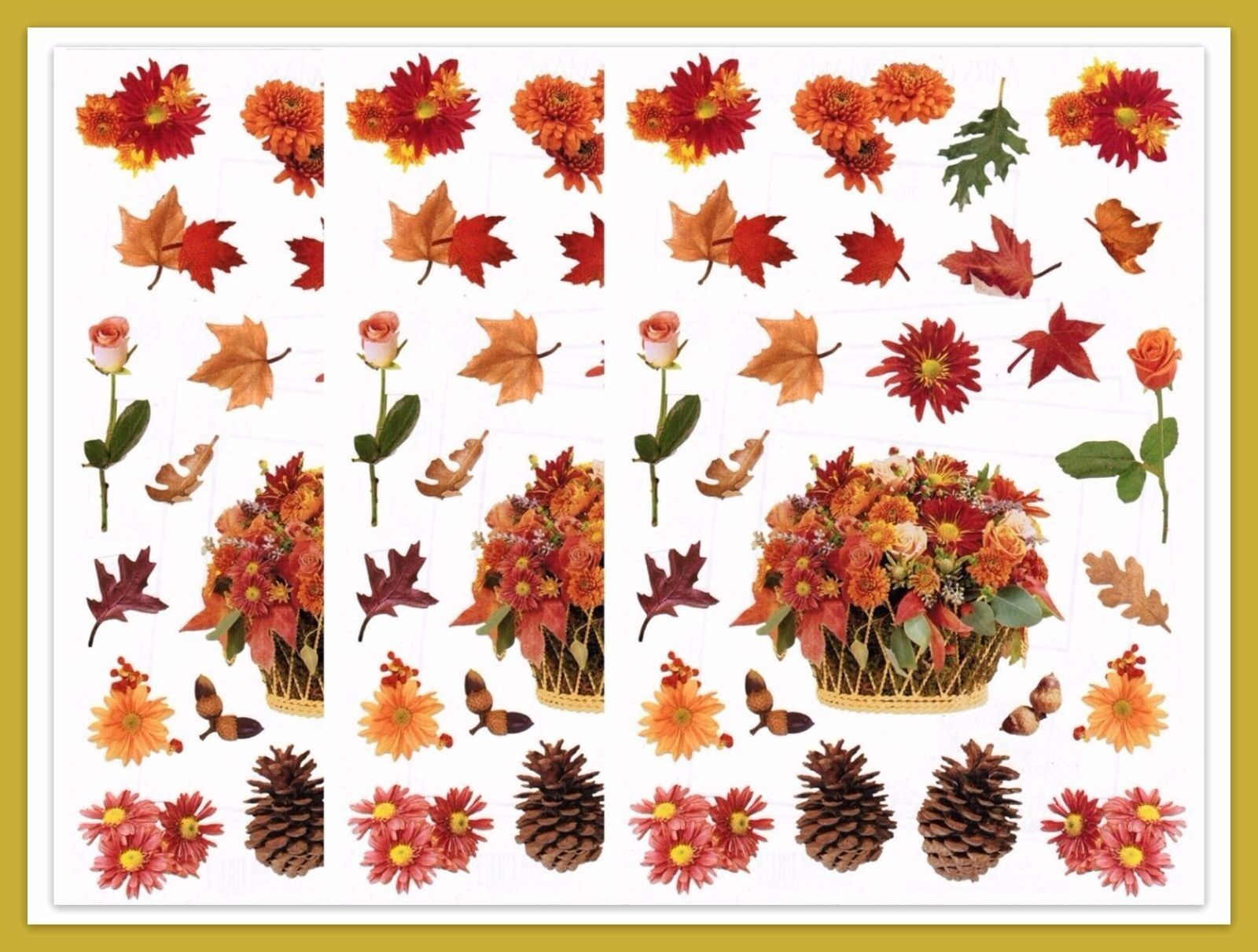 Autumn mrs grossmans 3 sheets fall rose daisy flower leaves picture 1 of 2 izmirmasajfo
