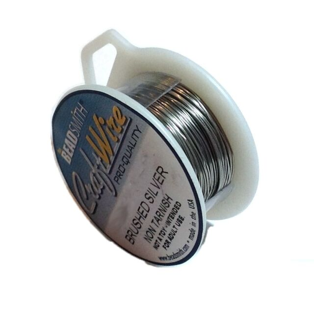 Brushed Silver Wire 26 Gauge 15y 43456 Round Jewelry Craft Copper ...