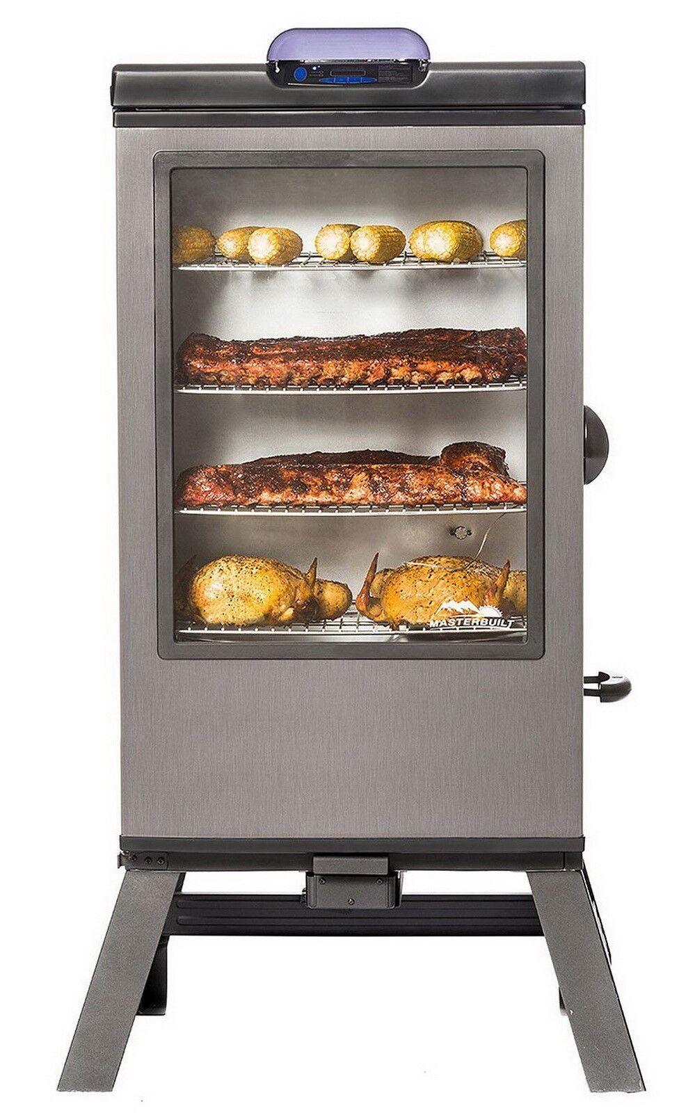 masterbuilt electric meat smoker 40 inch bbq 4 racks cooker
