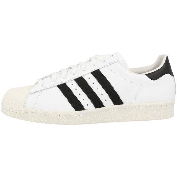 ADIDAS Superstar 80s Scarpe Retro Sneaker White Black White Samba g61070 speciale