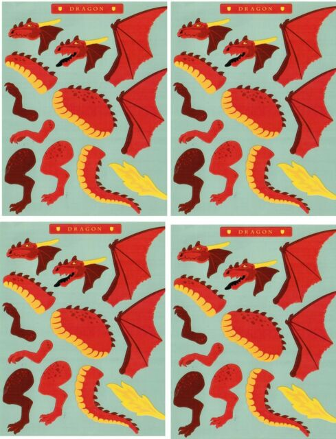 Mrs Grossmans Create A Dragon Scrapbook Stickers 4 Sheets Ebay
