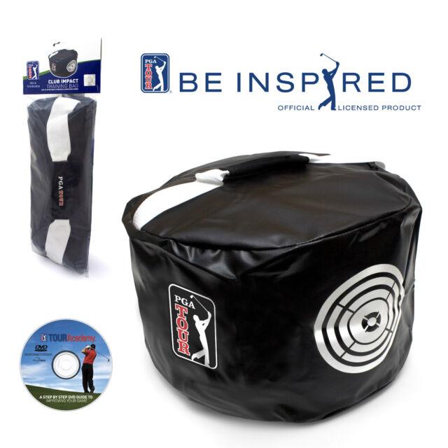 PGA TOUR Golf Power Impact Practice/Smash Bag + Free Training DVD - Swing Aid