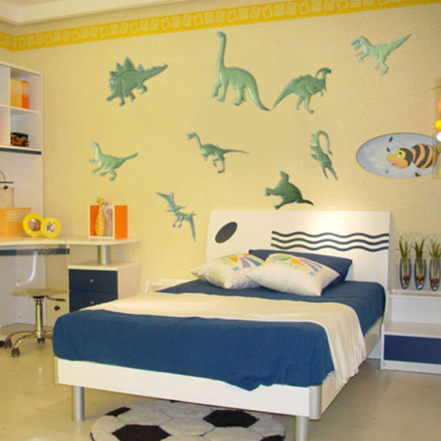 9pcs Glow in The Dark Night Dinosaurs Stickers Home Wall Bedroom ...
