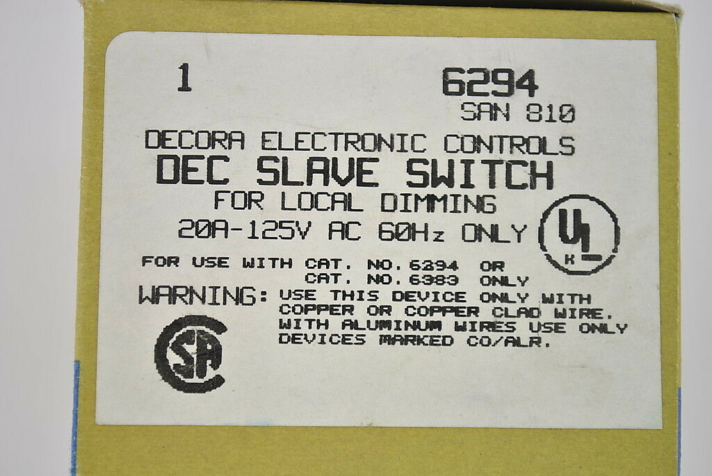 Leviton 6294 Brown Decora Home Controls X10 Slave Wall Switch for ...