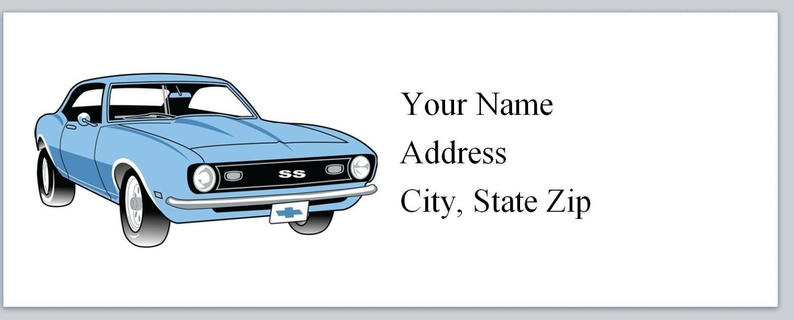 Personalized Return Address Labels Vintage Car Buy 3 Get 1 (bo 907 ...