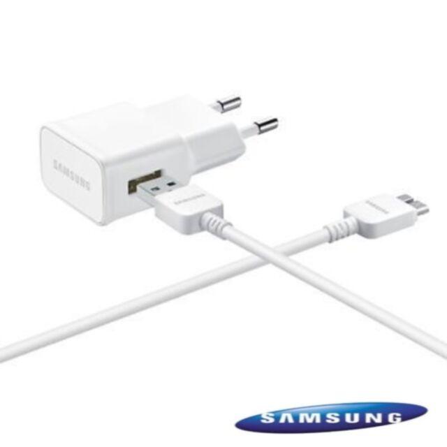 Chargeur Secteur D'Origine Samsung Pour le Galaxy S5 i9600 + Câble Micro USB 3.0