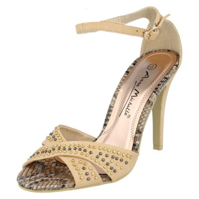 vendita da donna Anne Michelle Cinturino alla caviglia con borchie SANDALI L3391