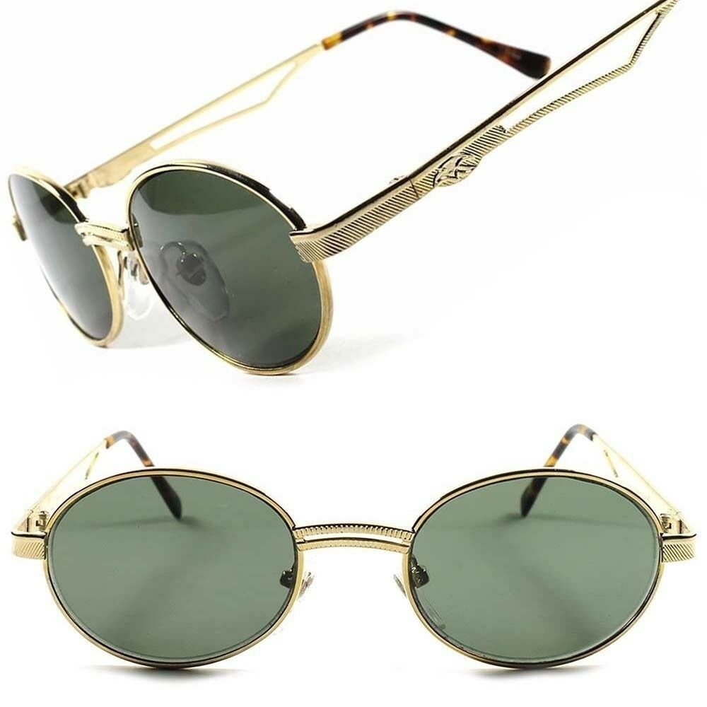 gold frame vintage fashion old school cool mens womens oval round