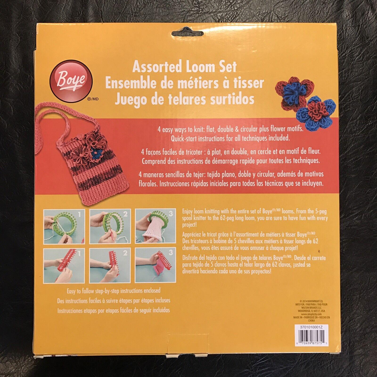 Boye Assorted Loom Set 4 Looms Flat Round Needle Instructions Ebay