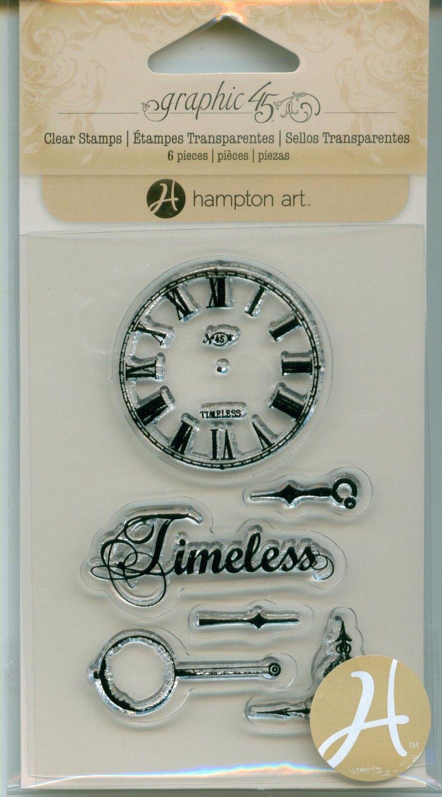 hampton art clear stamps timeless clock watch sc0595 ebay