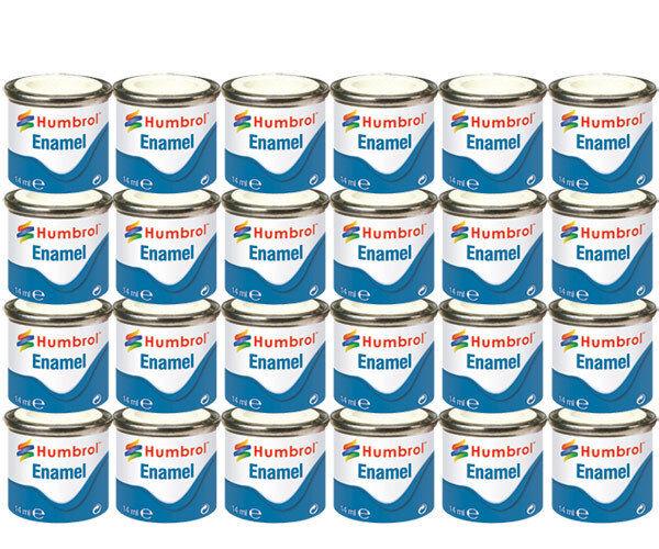 HUMBROL Enamel Paint Gloss Matt Satin Varnish 14ml Choose Colour Color Tinlet