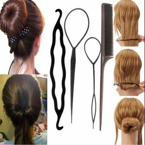 topsy hair braid ponytail maker styling tool 4x set plastic magic topsy hair braid ponytail styling maker clip tools tsu ebay 4968