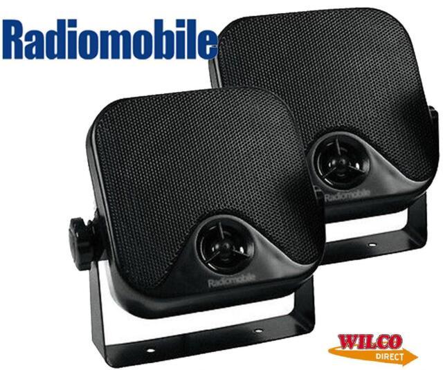 RADIOMOBILE UNIVERSAL 60W 2-WAY RADIO/STEREO POD SPEAKERS CAR/VAN/BOAT/CARAVAN