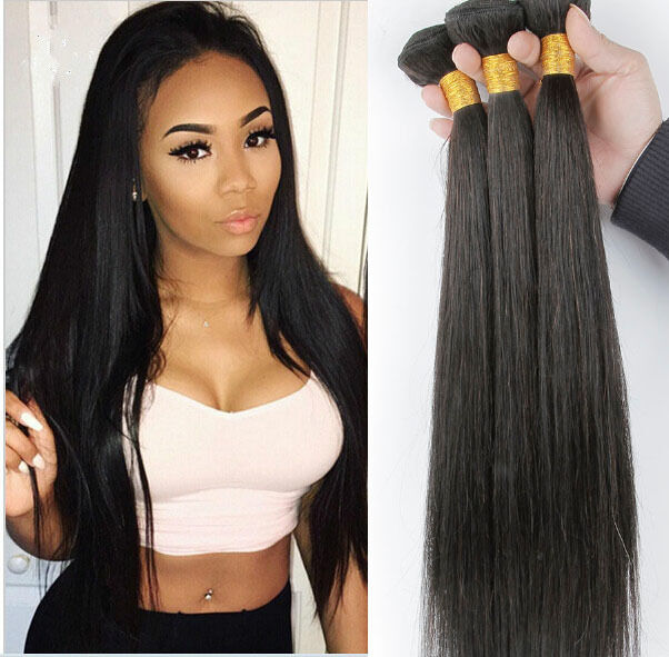 "15"" Remy Brazilian Straight Human Hair Weave Extensions 15 Bundles ..."