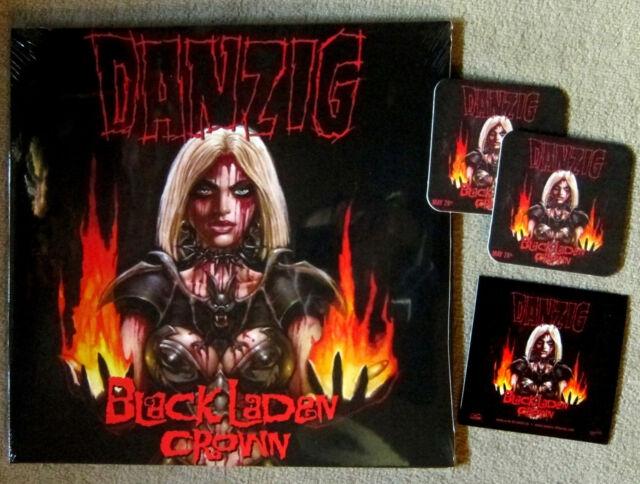 DANZIG Black Laden Crown - LP / Neon Orange Vinyl + Sticker + 2 Bierdeckel