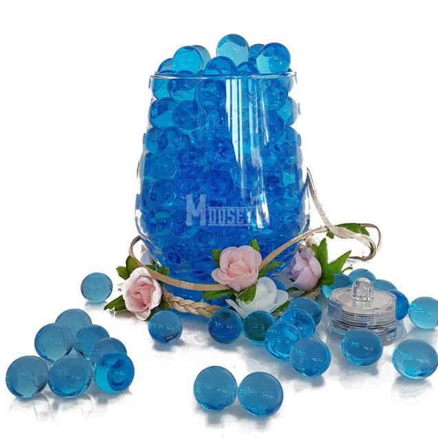 Wedding Party Table Top Vase Decoration Led Light With Bio Gel Aqua