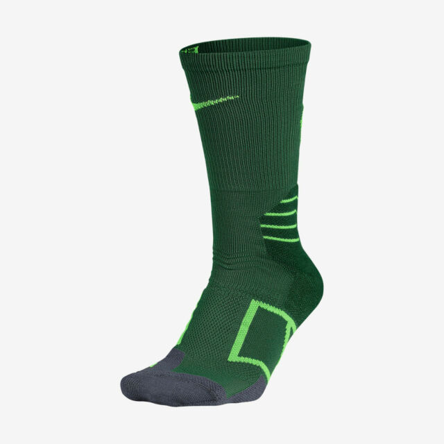 Nike Elite Vapor Crew Gorge Green/Flash Lime Baseball Socks
