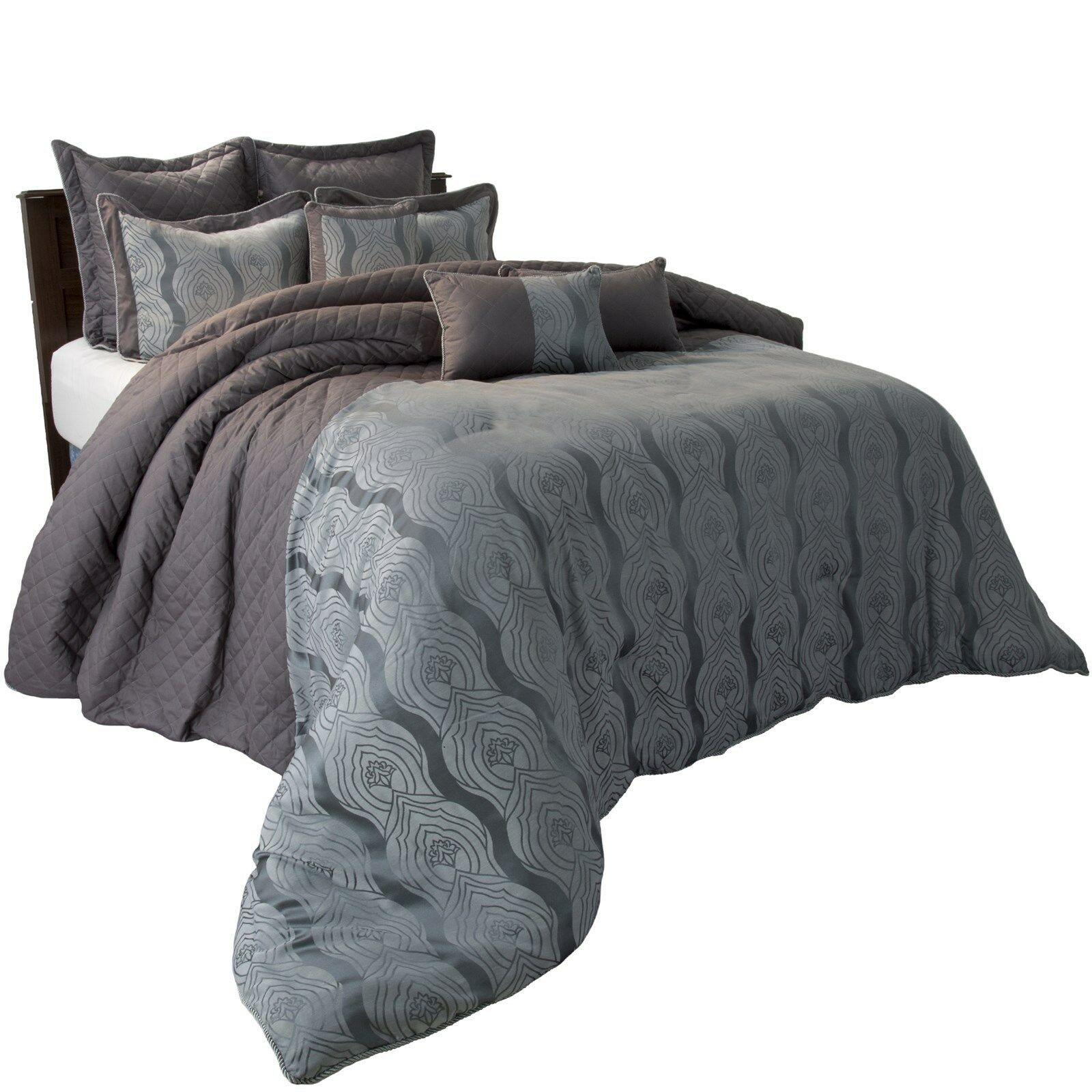 Lavish Home 9 PC High Quality 100 Cotton Jolene forter Set King
