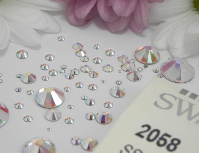 Swarovski Crystal Flat Back Gems Nail Rhinestones 24mm Round Ss8