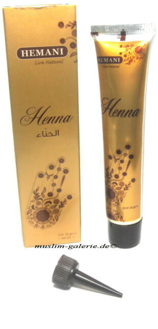 Original Hemani Henna Paste in Tube Henna Tattoo Rot  *Kina Stift Henne Mehndi*