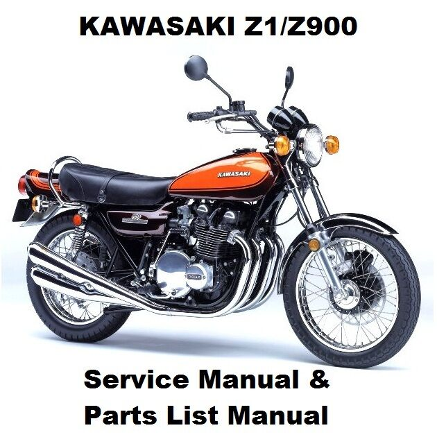 z1 z900 owners workshop service repair parts manual pdf on cd r kz z rh ebay com Kawasaki 900 Z1 2018 kawasaki z1 900 service manual