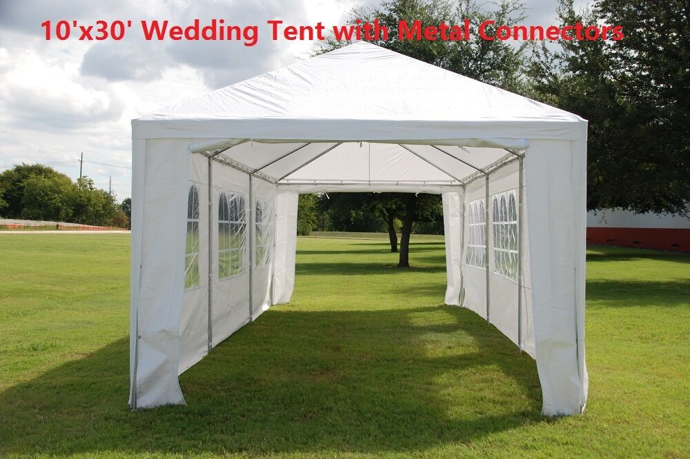 Picture 4 of 6 ... & Wedding Party Tent Gazebo Canopy W Metal Connectors - Three Sizes ...