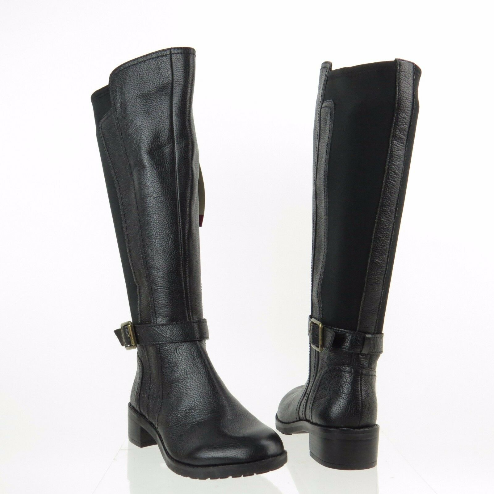 Womens Boots Naturalizer Mint Wide Shaft Black Wide Shaft Leather