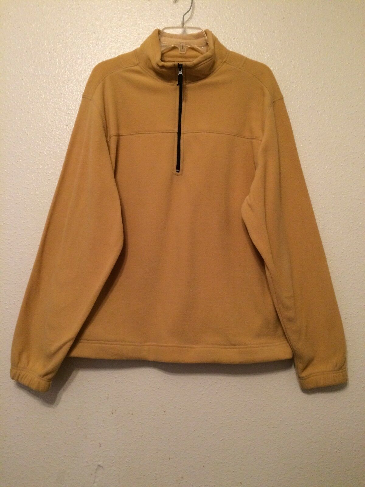 Saddlebred Mens Size Medium Tan Zip Fleece Pullover Jacket | eBay