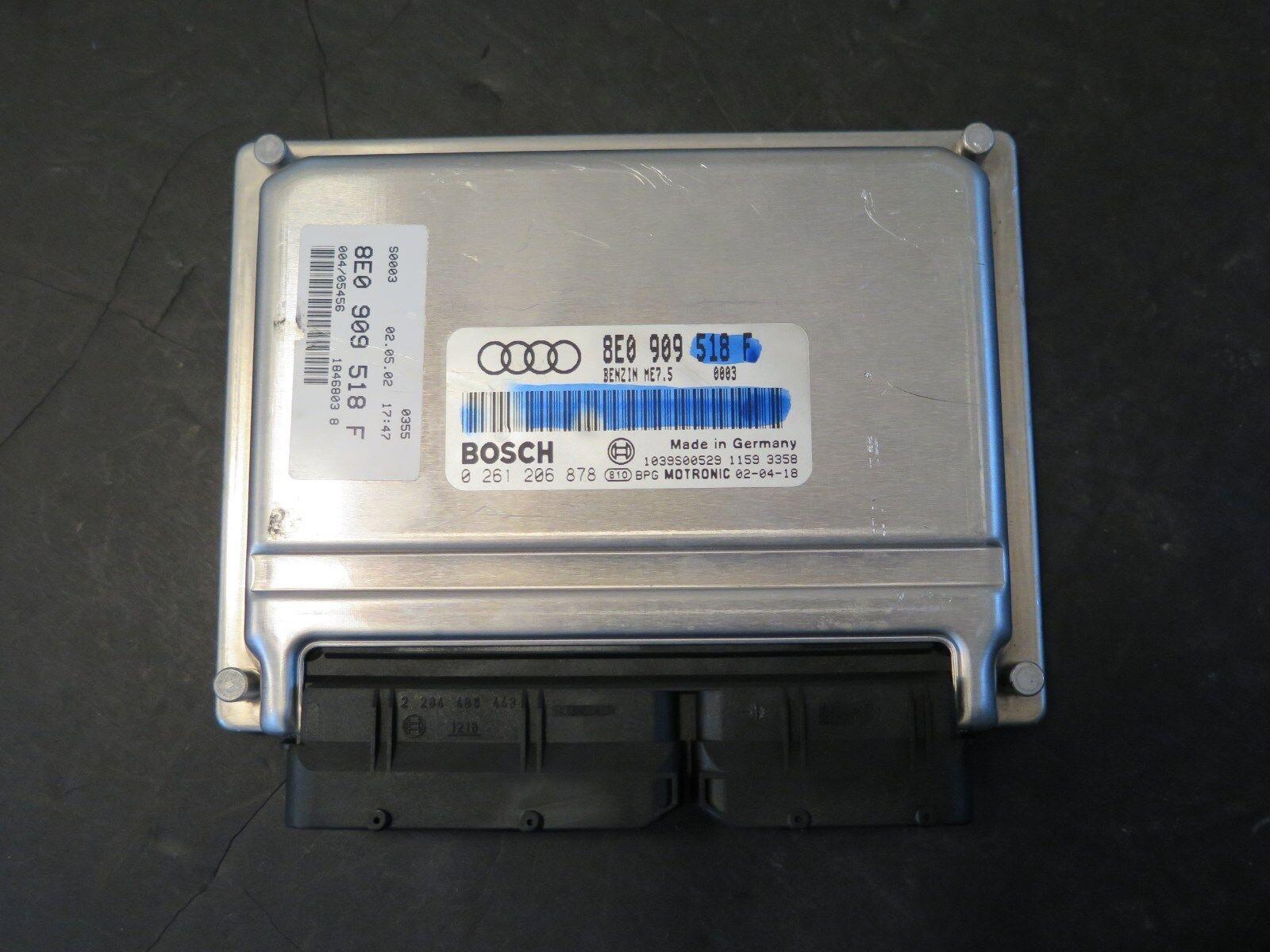 03 Audi A4 18 Turbo Ecm Ecu Engine Control Computer Bosch 2003 Wiring Harness 2002 2004 18t 8e0 909 518 F