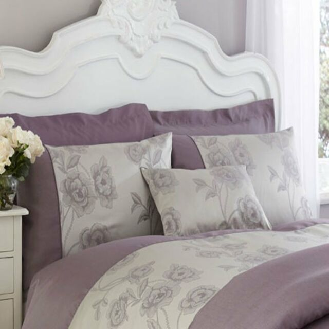 Light Purple   Grey Duvet Cover Set   Charlotte Thomas Antonia Collection. Charlotte Thomas Luxury Jacquard Antonia Duvet Cover Slate Grey