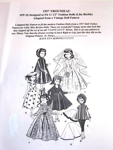 NG Creations Pattern #pp26 Sew 1957 Trousseau & Wedding Gown Fits ...