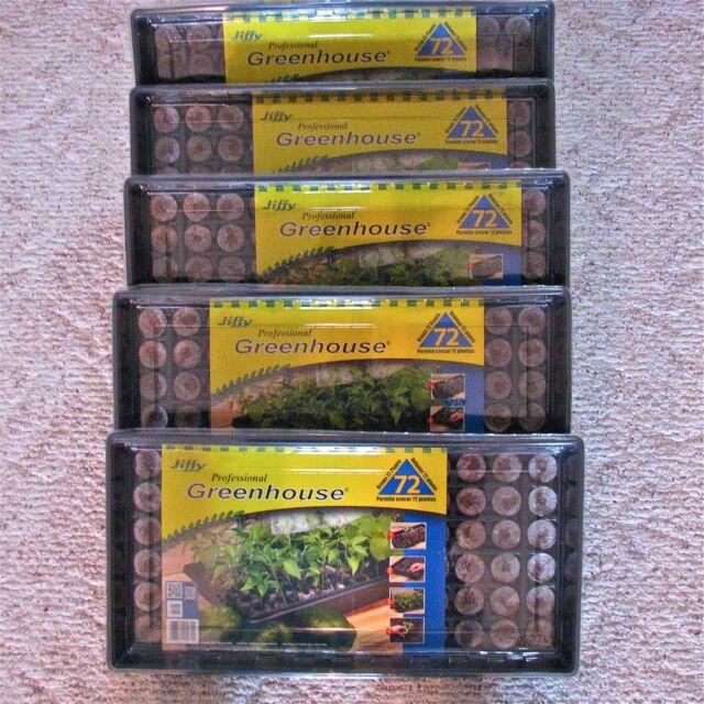 5 Pack Of Jiffy 72 Peat Pellet Windowsill Greenhouse Seed Starting Kit J372