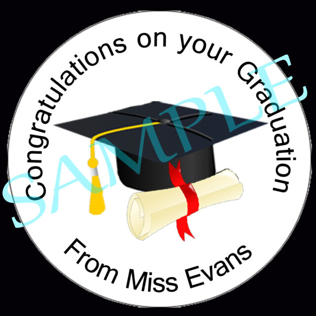 35 personalised graduation stickers school university vector diploma scroll